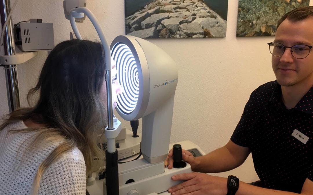 Hornhaut-Diagnostik mit neuem Messgerät